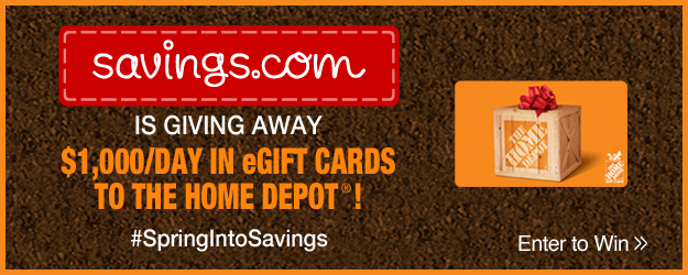 Win a $20 The Home Depot Gift Card