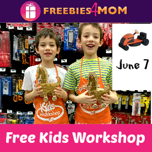 Free Kids Workshop June 7 at Home Depot
