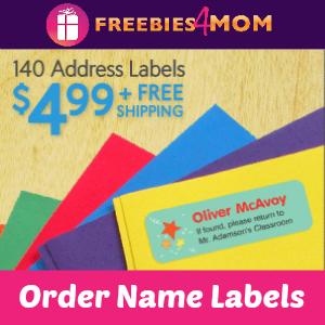 Vistaprint 140 labels for $4.99