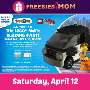 Free Lego Movie Building Event at Toys R Us