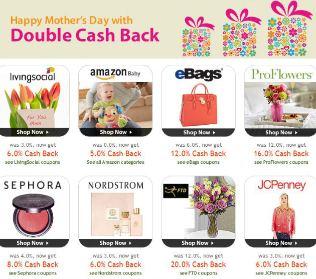 Ebates Mother's Day Sale