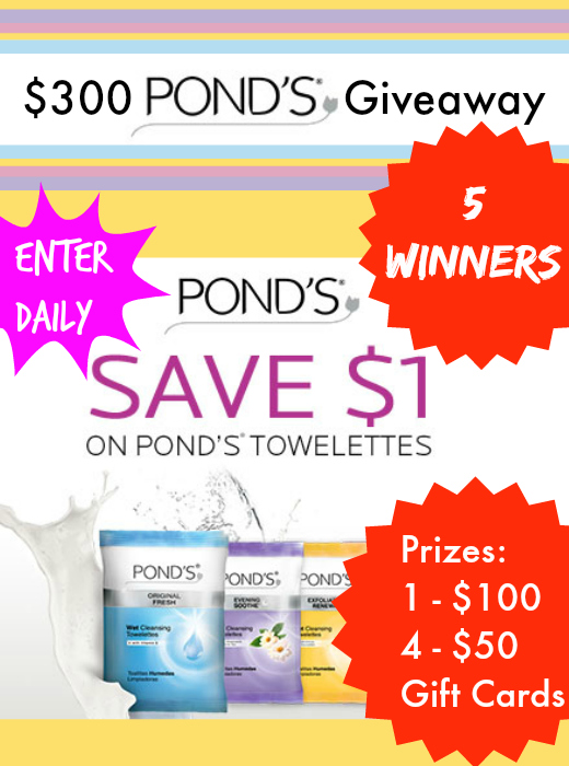 $300 POND's® Gift Card Giveaway