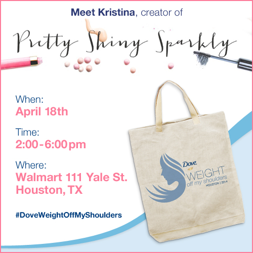 HOUSTON: Dove Pretty Shiny Sparkly Event Friday, April 18 2-6pm