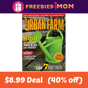 Deal Urban Farm $8.99 (40% Off)
