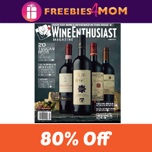 Deal Wine Enthusiast Magazine $5.99 (80% Off)