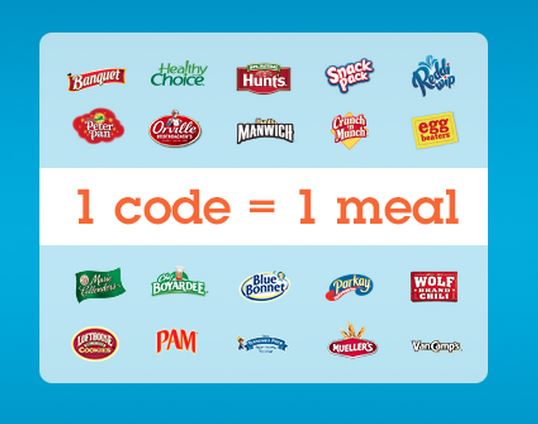 Child Hunger Ends Here : 1 code = 1 meal