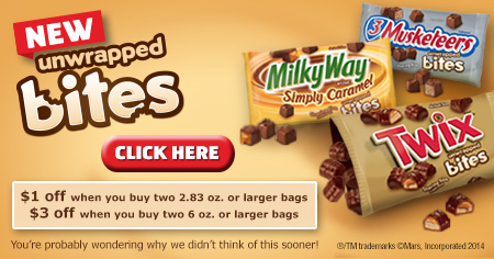 TWIX® Bites Coupons