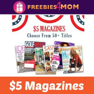 $5 Magazine Sale