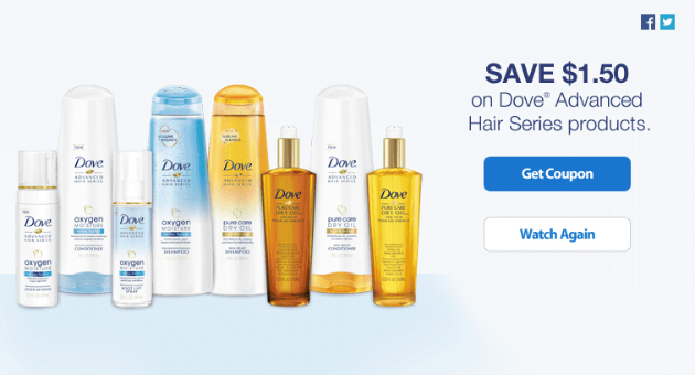 $1.50 Dove Advanced Hair Series Coupon