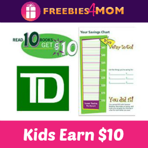 Kids Earn $10 with TD Bank Summer Reading