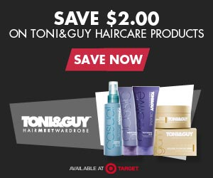 Save $2.00 on Toni & Guy Haircare Products at Target