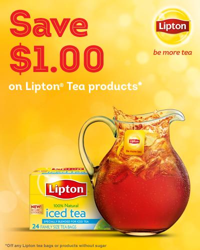 Save $1.00 on Lipton Tea Coupon