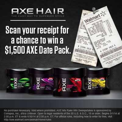 AXE MIX RAKE WIN SWEEPSTAKES