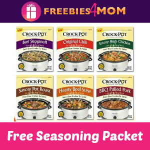 Free Crock-Pot Seasoning Mix Packet