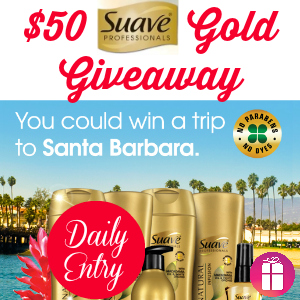 $50 Suave Gold Giveaway