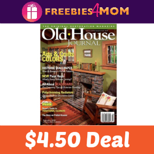 Magazine Deal: Old House Journal $4.50