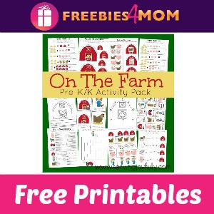 Free On The Farm Pre-K/K Activity Printables