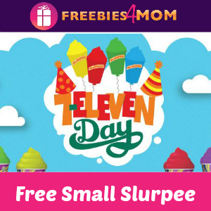 Free Small Slurpee at 7-Eleven July 11