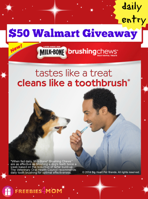 $50 Walmart Gift Card Giveaway from Milk-Bone Brushing Chews
