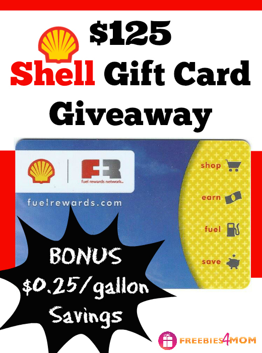 $125 Shell Gift Card Giveaway - WIN FREE FUEL