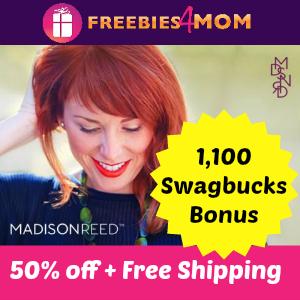 50% off at Madison Reed (plus 1,100 Swagbucks Bonus)