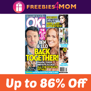 Magazine Deal: OK! Starting at $8.33 per year