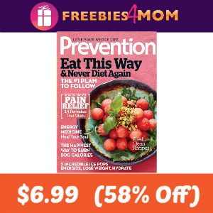 Magazine Deal: Prevention $6.99