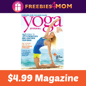 Magazine Deal: Yoga Journal $4.99