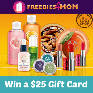 $25 The Body Shop Gift Card Giveaway *40 winners*