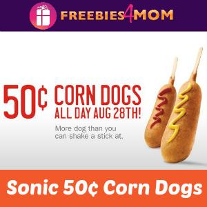 Sonic 50¢ Corn Dogs Thursday