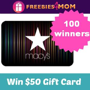 Win a $50 Macy's Gift Card (50 winners)