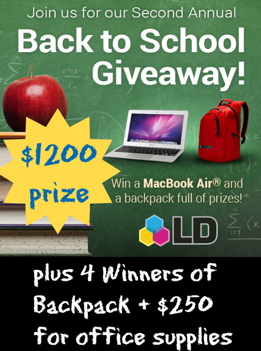 Back To School Giveaway from LD Products