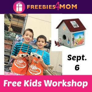Free Kids Workshop Sept. 6 at Home Depot