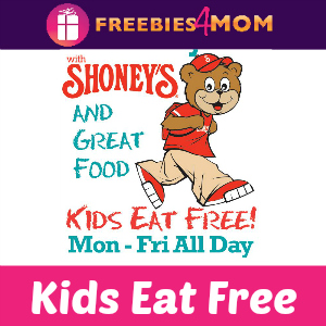 Kids Eat Free at Shoney's Mon-Fri All Day