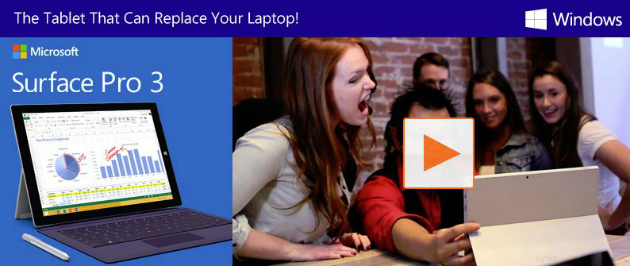Microsoft Surface Pro 3 - The Tablet That Can Replace Your Laptop