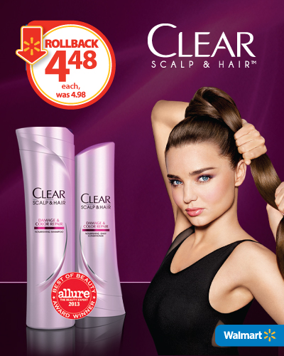 40% off CLEAR SCALP & HAIR THERAPY™ at Walmart