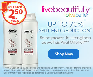 Suave Split End Rescue Hair Care at Walmart