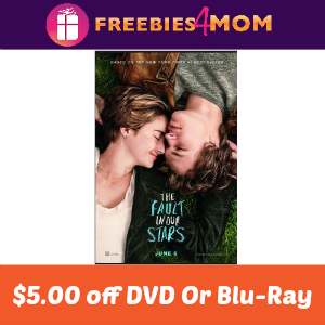 $5.00 off The Fault in our Stars DVD or Blu-ray