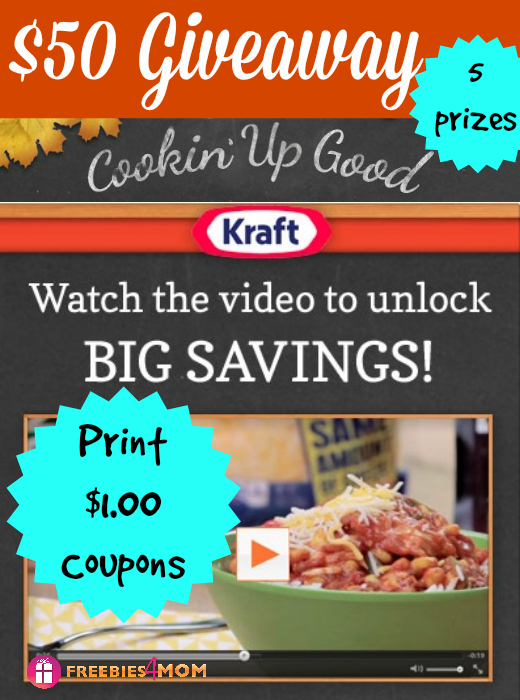 $50 Walmart Gift Card Giveaway ~ Cookin' Up Good with Kraft
