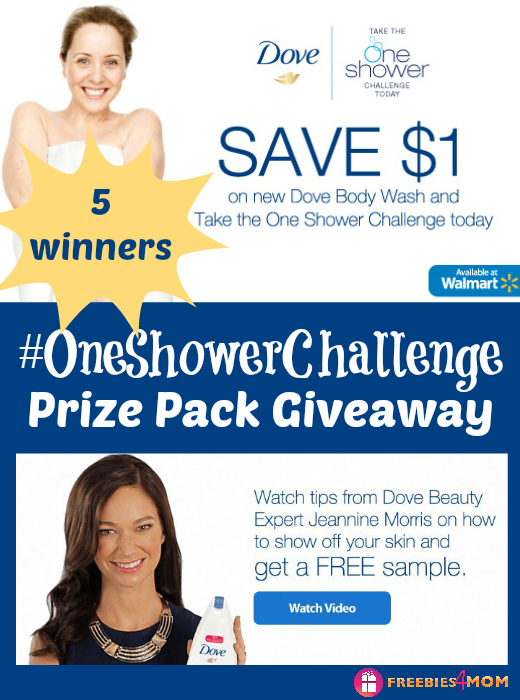 Dove One Shower Challenge Giveaway