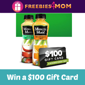 Sweeps Minute Maid Sip, Text, Win