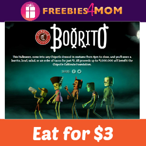 "$3 ""Booritos"" at Chipotle Friday"