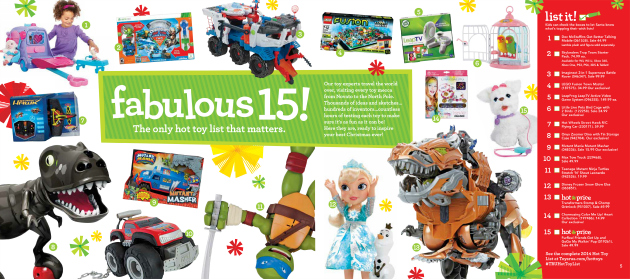 """Hot Toy List from Toys""""R""""Us"""