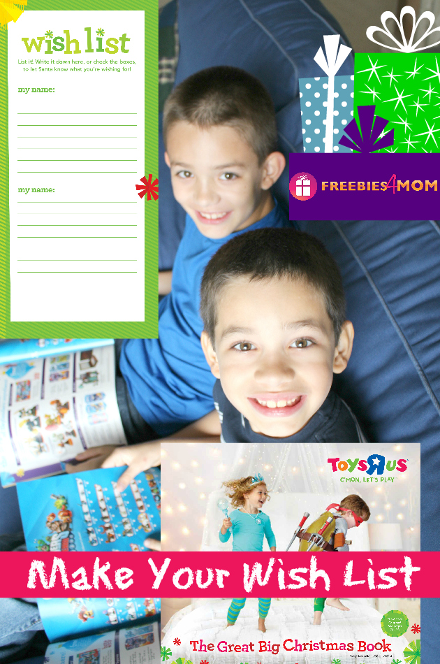 "Kids Christmas Wish List with Toys""R""Us"