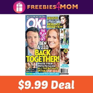 Magazine Deal: Ok! $9.99 ($0.19 per issue)