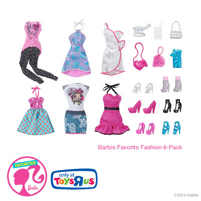 """Barbie Favorite Fashion 6-pack at Toys""""R""""Us"""