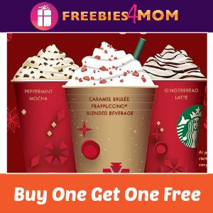 Starbucks Holiday Drinks BOGO Free Nov. 12-16