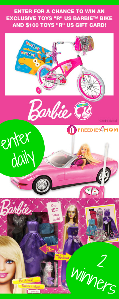 """Barbie Bike and $100 Toys """"R"""" Us Gift Card Giveaway"""