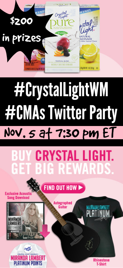 #CrystalLightWM #CMAs Twitter Party