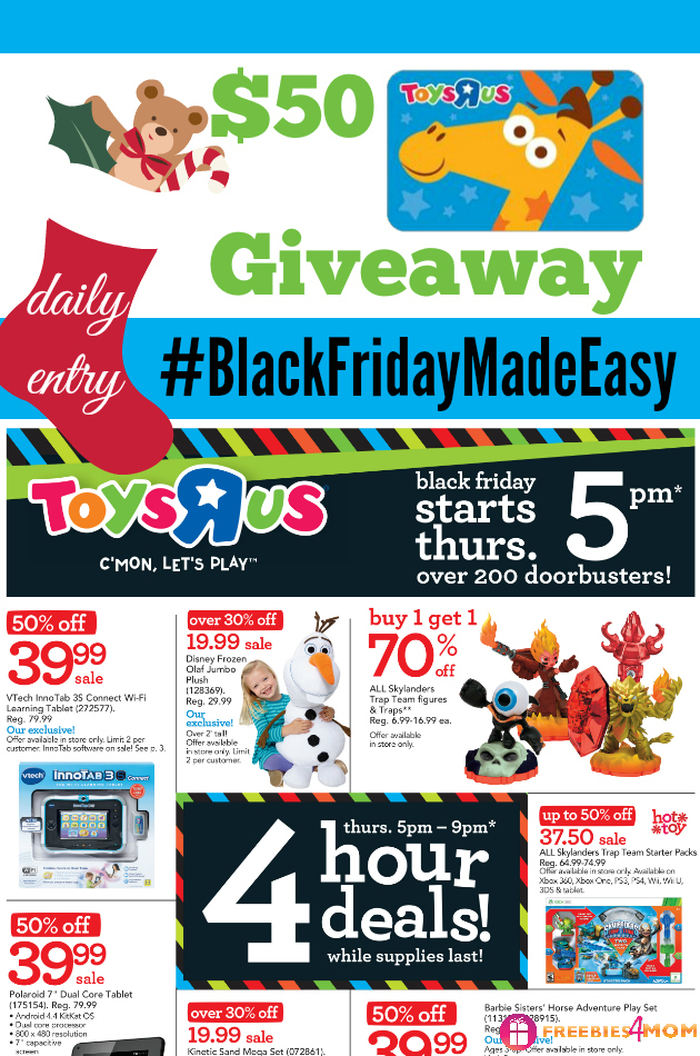 """$50 Toys""""R""""Us Black Friday Giveaway"""